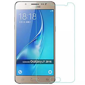 Недорогие Защитные пленки для Samsung-Samsung GalaxyScreen ProtectorJ7 (2016) HD Защитная пленка 1 ед. Закаленное стекло