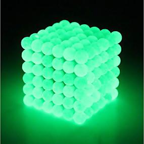 olcso Újdonságok-64 pcs 5mm Mágneses játékok mágneses Balls Építőkockák Super Strong ritkaföldfémmágnes Neodímium mágnes Puzzle Cube Neodímium mágnes Strand Mágneses típus Foszforeszkáló Stressz és szorongás oldására