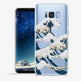 voordelige Galaxy S6 Edge Plus Hoesjes / covers-hoesje Voor Samsung Galaxy S8 Plus / S8 / S7 edge Patroon Achterkant Lijnen / golven / Landschap Zacht TPU