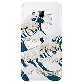 voordelige Galaxy J7 Hoesjes / covers-hoesje Voor Samsung Galaxy J7 (2017) / J7 (2016) / J7 Patroon Achterkant Lijnen / golven Zacht TPU