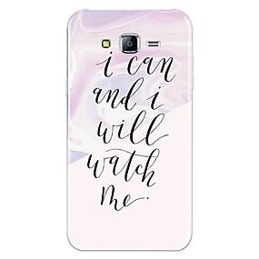 voordelige Galaxy J3 Hoesjes / covers-hoesje Voor Samsung Galaxy J7 (2017) / J7 (2016) / J7 Patroon Achterkant Woord / tekst / Marmer Zacht TPU