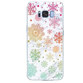 voordelige Galaxy S6 Edge Plus Hoesjes / covers-hoesje Voor Samsung Galaxy S8 Plus / S8 / S7 edge Patroon Achterkant Tegel / Marmer Zacht TPU