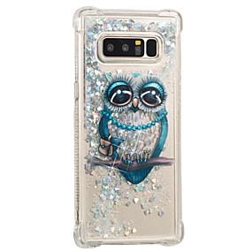 Недорогие Чехлы и кейсы для Galaxy Note 8-Кейс для Назначение SSamsung Galaxy Note 8 Защита от удара / Движущаяся жидкость / С узором Кейс на заднюю панель Сова Мягкий ТПУ