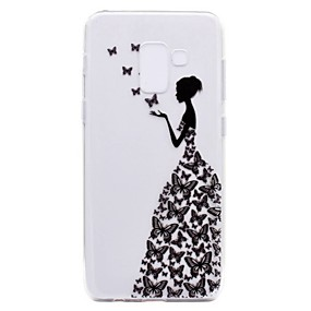 voordelige Galaxy A3(2016) Hoesjes / covers-hoesje Voor Samsung Galaxy A3 (2017) / A5 (2017) / A7 (2017) Transparant / Patroon Achterkant Sexy dame Zacht TPU