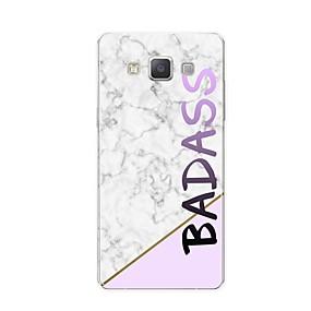 voordelige Galaxy A8 Hoesjes / covers-hoesje Voor Samsung Galaxy A3 (2017) / A5 (2017) / A7 (2017) Patroon Achterkant Woord / tekst / Marmer Zacht TPU