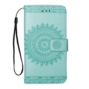 voordelige Galaxy A5(2016) Hoesjes / covers-hoesje Voor Samsung Galaxy Portemonnee / Kaarthouder / met standaard Effen Hard PU-nahka