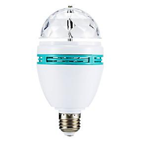 olcso US Raktár-3 W LED gömbbúrás izzók 270 lm E26 / E27 3 LED gyöngyök Nagyteljesítményű LED RGB 85-265 V / # / #