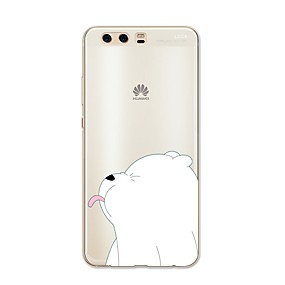 voordelige Huawei Honor hoesjes / covers-hoesje Voor Huawei P9 / Huawei P9 Lite / Huawei P8 P10 Plus / P10 Lite / P10 Patroon Achterkant dier / Cartoon Zacht TPU / Huawei P9 Plus