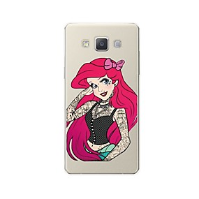 voordelige Galaxy A8 Hoesjes / covers-hoesje Voor Samsung Galaxy A3 (2017) / A5 (2017) / A7 (2017) Patroon Achterkant Sexy dame / Cartoon Zacht TPU