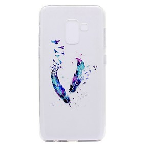 voordelige Galaxy A3(2016) Hoesjes / covers-hoesje Voor Samsung Galaxy A3 (2017) / A5 (2017) / A7 (2017) Transparant / Patroon Achterkant Veren Zacht TPU