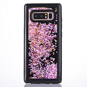 Недорогие Чехлы и кейсы для Galaxy Note 8-Кейс для Назначение SSamsung Galaxy Note 8 Движущаяся жидкость / Прозрачный Кейс на заднюю панель Прозрачный / Сияние и блеск Мягкий ТПУ