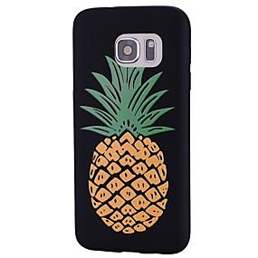voordelige Galaxy S7 Edge Hoesjes / covers-hoesje Voor Samsung Galaxy S8 Plus / S8 / S7 edge Reliëfopdruk / Patroon Achterkant Fruit Zacht TPU