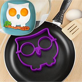 رخيصةأون أدوات & أجهزة المطبخ-سيليكون البومة البيض المقلي العفن ديي أدوات الطبخ عجة جهاز