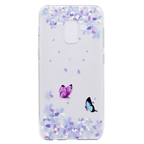 voordelige Galaxy A3(2016) Hoesjes / covers-hoesje Voor Samsung Galaxy A3 (2017) / A5 (2017) / A7 (2017) Transparant / Patroon Achterkant Vlinder Zacht TPU