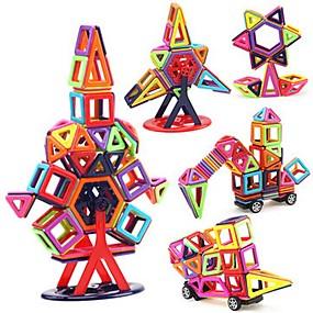 رخيصةأون ألعاب النماذج والتركيب-مكعبات مغناطيسية البلاط المغناطيسي أحجار البناء 40 pcs سيارات قط سيارة التحويلية التفاعل بين الوالدين والطفل كلاسيكي للصبيان للفتيات ألعاب هدية