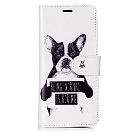 voordelige Galaxy S7 Edge Hoesjes / covers-hoesje Voor Samsung Galaxy S8 Plus / S8 / S7 edge Portemonnee / Kaarthouder / Flip Volledig hoesje Hond / Woord / tekst Hard PU-nahka