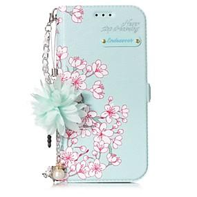 olcso Galaxy A3(2017) tokok-Case Kompatibilitás Samsung Galaxy A3 (2017) / A5 (2017) Kártyatartó / Állvánnyal / Flip Héjtok Virág Kemény PU bőr