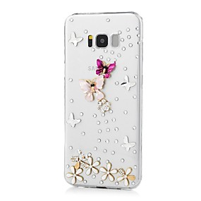 voordelige Galaxy S7 Edge Hoesjes / covers-hoesje Voor Samsung Galaxy S8 Plus / S8 / S7 edge Strass / Patroon Achterkant Vlinder Hard Acryl
