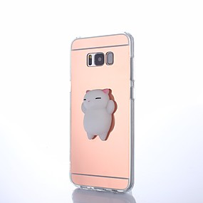 voordelige Galaxy S6 Edge Plus Hoesjes / covers-hoesje Voor Samsung Galaxy S8 Plus / S8 / S7 edge DHZ / squishy Achterkant dier Hard Acryl