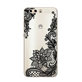 voordelige Huawei Honor hoesjes / covers-hoesje Voor Huawei P9 / Huawei P9 Lite / Huawei P8 P10 Plus / P10 Lite / P10 Patroon Achterkant Lace Printing Zacht TPU / Huawei P9 Plus