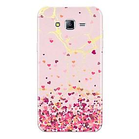 voordelige Galaxy J7(2017) Hoesjes / covers-hoesje Voor Samsung Galaxy J7 (2017) / J7 (2016) / J7 Patroon Achterkant Tegel / Hart / Marmer Zacht TPU