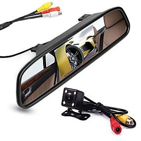 voordelige Auto-elektronica-ziqiao 4.3 inch digitale tft lcd-spiegelmonitor en 8led ccd hd auto achteruitrijcamera