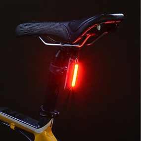 cheap Flashlights, Lanterns & Lights-Bike Light Rear Bike Tail Light Safety Light Mountain Bike MTB Bicycle Cycling Waterproof Portable Alarm Warning Lithium USB