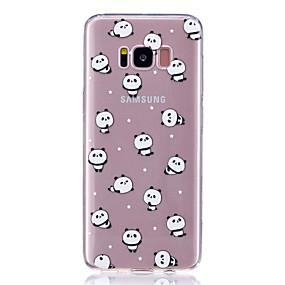 olcso Galaxy S7 tokok-Case Kompatibilitás Samsung S8 Plus / S8 / S7 edge Ultra-vékeny / Minta Fekete tok Panda Puha TPU