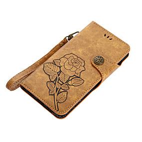 billige Etuier/covers til Huawei Honor-Etui Til Huawei Pung / Kortholder / Med stativ Blomst Hårdt