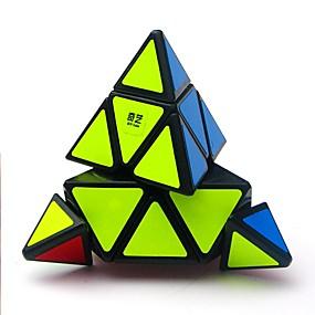 رخيصةأون ألعاب تعليمية-المكعب السحري الذكاء مكعب QIYI A Pyramid أجنبي 3*3*3 السلس مكعب سرعة مكعبات سحرية مخفف الضغط لغز مكعب لامعة متخصص التوتر والقلق الإغاثة معمارية كلاسيكي للأطفال للبالغين الأطفال ألعاب للصبيان للفتيات