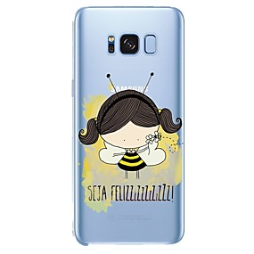 voordelige Galaxy S6 Edge Plus Hoesjes / covers-hoesje Voor Samsung Galaxy Patroon Sexy dame / dier / Cartoon Zacht