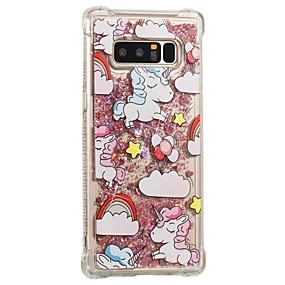 Недорогие Чехлы и кейсы для Galaxy Note 8-Кейс для Назначение SSamsung Galaxy Note 8 Защита от удара / Движущаяся жидкость / С узором Кейс на заднюю панель единорогом Мягкий ТПУ