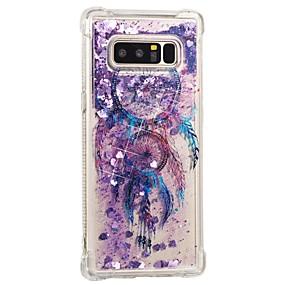 Недорогие Чехлы и кейсы для Galaxy Note 8-Кейс для Назначение SSamsung Galaxy Note 8 Защита от удара / Движущаяся жидкость / С узором Кейс на заднюю панель Ловец снов Мягкий ТПУ