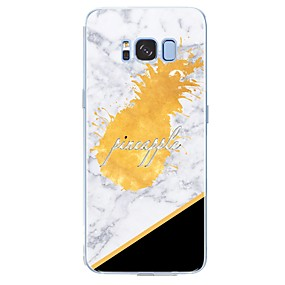 voordelige Galaxy S6 Edge Plus Hoesjes / covers-hoesje Voor Samsung Galaxy S8 Plus / S8 / S7 edge Patroon Achterkant Woord / tekst / Fruit / Marmer Zacht TPU