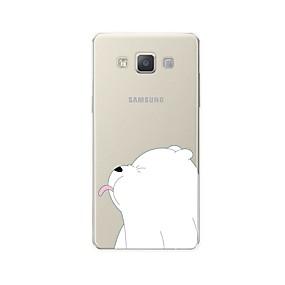 voordelige Galaxy A8 Hoesjes / covers-hoesje Voor Samsung Galaxy A3 (2017) / A5 (2017) / A7 (2017) Patroon Achterkant dier / Cartoon Zacht TPU