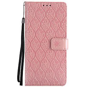Недорогие Чехлы и кейсы для Galaxy Note 8-Кейс для Назначение SSamsung Galaxy Note 8 / Note 4 / Note 3 Кошелек / Бумажник для карт / со стендом Чехол Цветы Твердый Кожа PU