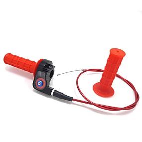 Недорогие Запчасти для мотоциклов и квадроциклов-Рукоятка для мотокросса Рукоятки рукоятки Дроссельный тросик Зажим для контрольного кабеля красный 25 мм