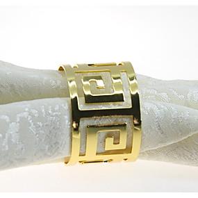 olcso Szalvéták, szalvétagyűrűk-Európai stílus Fém Kör Szalvétagyűrű Asztali dekorációk 12 pcs