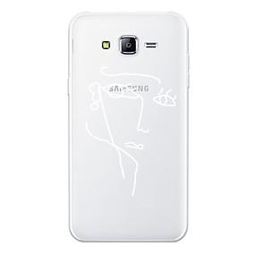 저렴한 Galaxy J7 케이스 / 커버-케이스 제품 Samsung Galaxy J7 (2017) / J7 (2016) / J7 패턴 뒷면 커버 라인 / 웨이브 / 섹시 레이디 / 기하학 패턴 소프트 TPU