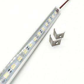 olcso Fénycsövek-zdm 50cm 15w 72 x 5730 smd 14mm led v alak 90 fokos fehér led kemény fénysugár lámpa hideg fehér meleg fehér dc12v