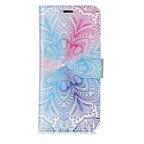 voordelige Galaxy S7 Hoesjes / covers-hoesje Voor Samsung Galaxy S8 Plus / S8 / S7 edge Portemonnee / Kaarthouder / Flip Volledig hoesje Mandala Hard PU-nahka