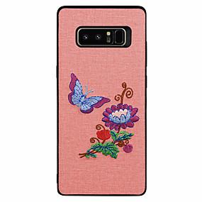 Недорогие Чехлы и кейсы для Galaxy Note 8-Кейс для Назначение SSamsung Galaxy С узором Бабочка / Пейзаж / Цветы Мягкий