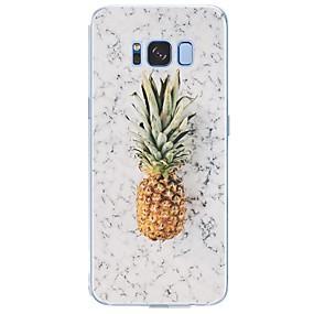 voordelige Galaxy S7 Edge Hoesjes / covers-hoesje Voor Samsung Galaxy S8 Plus / S8 / S7 edge Patroon Achterkant Fruit / Marmer Zacht TPU
