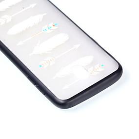 voordelige Galaxy J3(2017) Hoesjes / covers-hoesje Voor Samsung Galaxy J7 (2017) / J5 (2017) / J3 (2017) Transparant / Reliëfopdruk / Patroon Achterkant Veren Hard PC