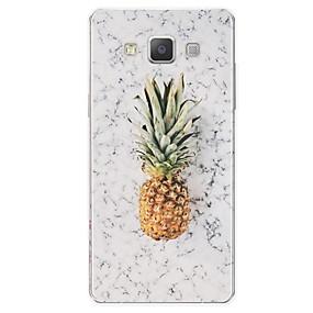 voordelige Galaxy A8 Hoesjes / covers-hoesje Voor Samsung Galaxy A3 (2017) / A5 (2017) / A7 (2017) Patroon Achterkant Fruit / Marmer Zacht TPU