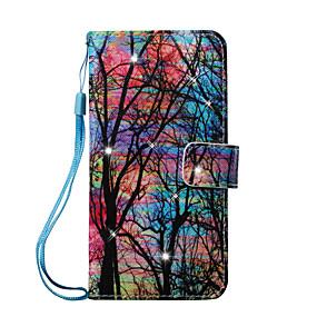 voordelige Galaxy J5 Hoesjes / covers-hoesje Voor Samsung Galaxy J7 (2016) / J5 (2016) / J5 Portemonnee / Kaarthouder / Strass Volledig hoesje Boom Hard PU-nahka