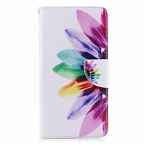 Недорогие Чехлы и кейсы для Huawei Honor-Кейс для Назначение Huawei Honor V8 / Huawei Honor 5C / Huawei P10 Plus / P10 Lite / P10 Кошелек / Бумажник для карт / со стендом Чехол Цветы Твердый Кожа PU