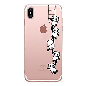 voordelige iPhone 11 Pro Max hoesjes-hoesje Voor Apple iPhone XS / iPhone XR / iPhone XS Max Transparant / Patroon Achterkant Panda Zacht TPU
