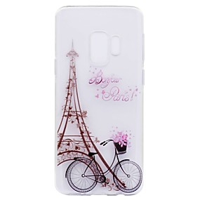 voordelige Galaxy S7 Hoesjes / covers-hoesje Voor Samsung Galaxy S9 / S9 Plus / S8 Plus Transparant / Patroon Achterkant Eiffeltoren Zacht TPU