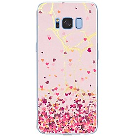 voordelige Galaxy S6 Edge Plus Hoesjes / covers-hoesje Voor Samsung Galaxy S8 Plus / S8 / S7 edge Patroon Achterkant Tegel / Hart / Marmer Zacht TPU